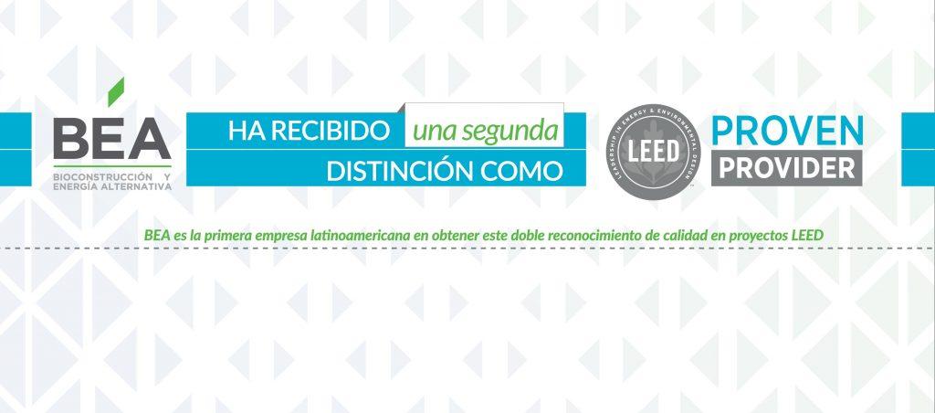 Bioconstruccion recibe segundo reconocimiento como LEED Proven Provider