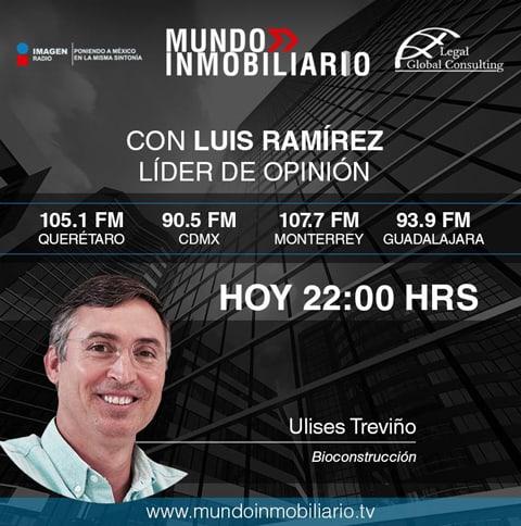 Participación en Mundo Inmobiliario, de Imagen Radio, hablando sobre edificación sustentable, Certificación LEED, Certificación WELL y Normas Oficiales Mexicanas.